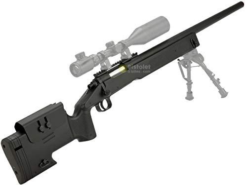 Pack complet Airsoft M62 Sniper Double Eagle/Sniper à Ressort/métal-ABS/Rechargement Manuel (0.5 Joule)-Livré avec… 2