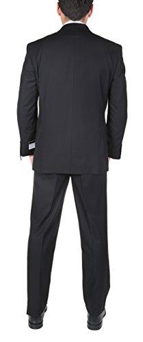 PL-Mens-Two-Piece-Classic-Fit-Office-2-Button-Suit-Jacket-Pleated-Pants-Set