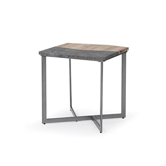 "Artum Hill Square End Table With Multi-Surface Top And Angular Base - The Tyler end table is a unique piece that is sure to draw the eye and create visual interest in your space Dimensions: 24"" Length, 24"" Width, and 24"" Height Makes everyday life a little bit easier with features like durable finish and floor protectors - living-room-furniture, living-room, end-tables - 31qkHY%2BSiVL. SS570  -"