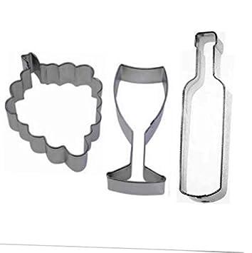 Amazon.com: Cortador de galletas, 3 piezas, para botellas de ...