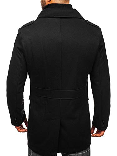 BOLF Manteau ? Double Boutonnage d'hiver pour Homme ? col Montant 4D4