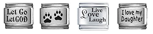 Clearly Charming Laser Italian Charm 4 Charm Bundle