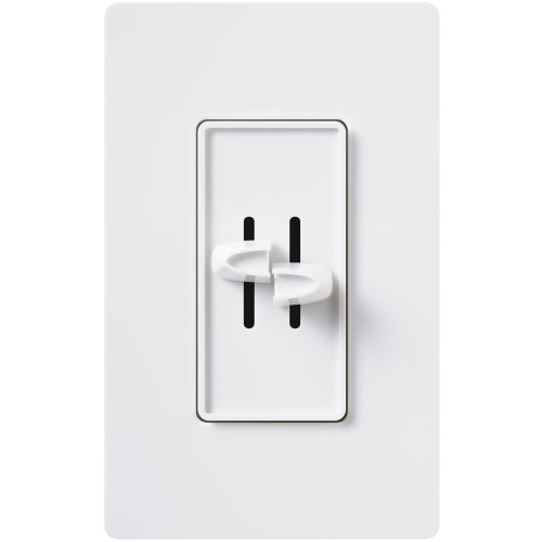 Lutron S2-L-WH 300-Watt Skylark Dual Slide-to-Off Dimmer, White