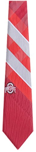 Ohio State College NCAA Necktie Red Silver