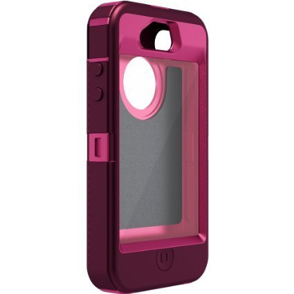 OtterBox Defender Series Case for iPhone 4/4S - Retail Packaging - Pink/Purple