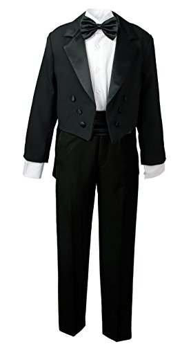 Spring Notion Boys' Black Classic Tuxedo with Tail 12 ()