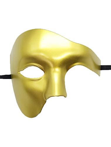 (Mens Masquerade Mask Phantom of The Opera Mask Venetian Half Face Mask Halloween Costumes)