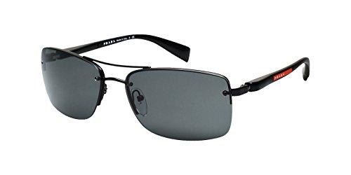 black frame solid black lens prada sport (linea rossa) ps50ns 太阳镜太阳眼镜