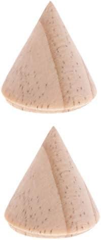 chiwanji 約3cm ジュエリーラック 天然木 リングスタンド 指輪ディスプレイ 木製 未塗装 円錐形 展示ラック 2個