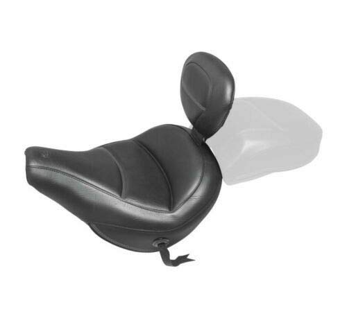 Mustang 79330 Max Profile Solo Touring Solo Seat with Removable Backrest - Original Style