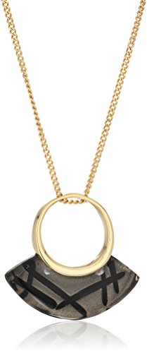 Alexis Bittar Futurist Rutilated Ash Pendant Necklace