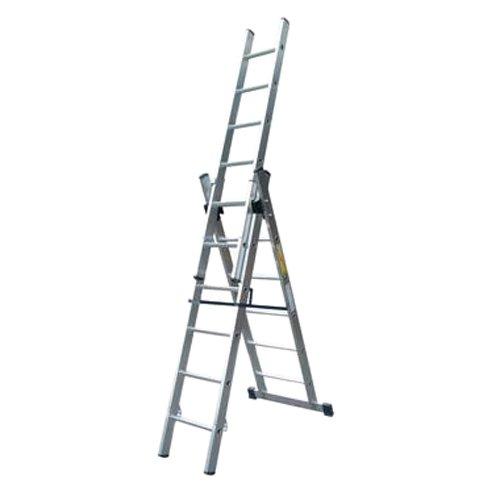 Acción manipulación lcl12 multifuncional combinación escalera, 12 peldaños cada sección, M de cerrado de altura de Pez. 1,36 m a marco altura, 5.55 m Extendido de altura, 8,4 m Extensión longitud. 25.2