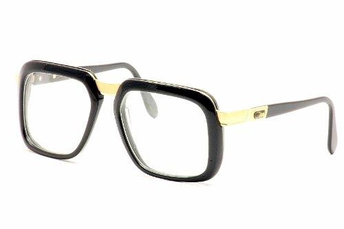 Cazal 616 Eyeglasses 001 Black/Gold Clear Lens 56 mm