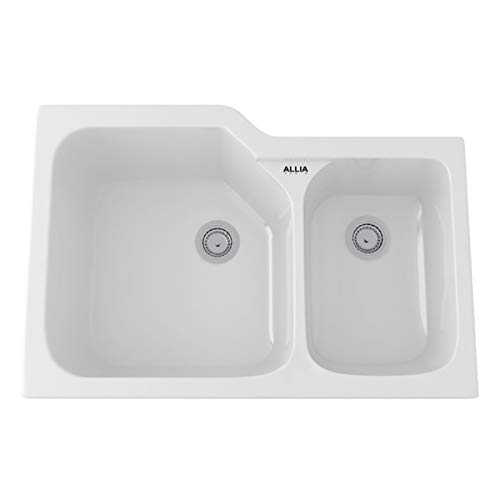 - Rohl 6337-00 FIRECLAY KITCHEN SINKS, 33-Inch by 22-Inch, White