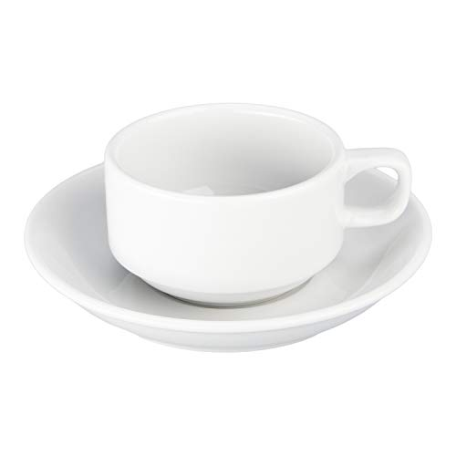 BIA Cordon Bleu 901610S4SIOC Serveware Cup and Saucer, One Size, White