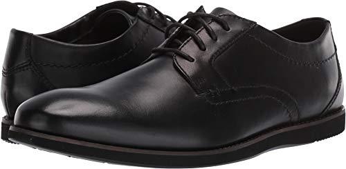 CLARKS Men's Raharto Plain Oxford Black Leather 100 W US