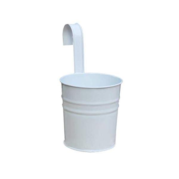 Depory metallo ferro solido colore vaso di fiori vaso da appendere per balcone o piante da giardino con gancio… 1 spesavip