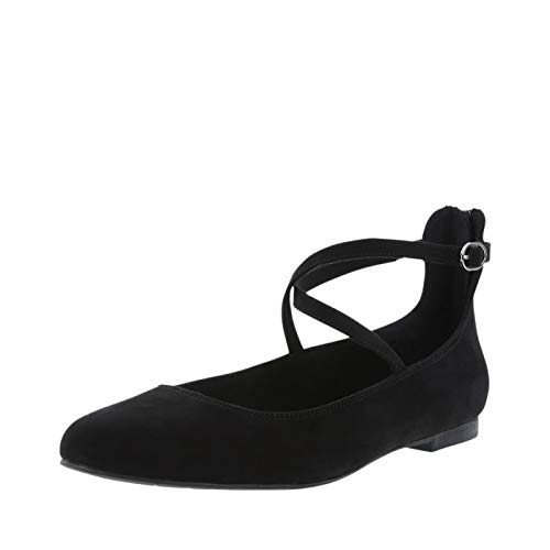 Christian Siriano for Payless Black Suede Women's Annalise Dress Flat 11 Wide