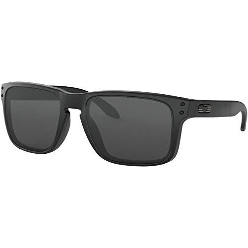Oakley Men's OO9102 Holbrook Square Sunglasses, Matte Black/Grey, 57 mm (Oakleys Holbrook)