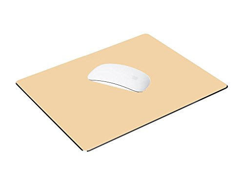 Mouse Pad(240x180x3mm), TansyShop Gaming Aluminum Mouse Pad With Non-Slip Rubber Base & Micro Sand Blasting Aluminum Surface for Fast and Accurate Control_Gold by TansyShop