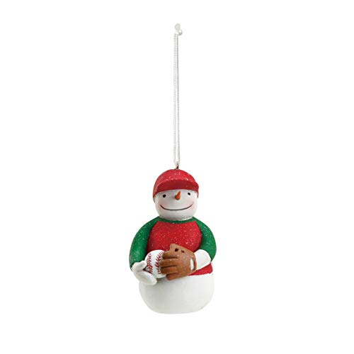 DEMDACO Baseball Snowman 1.5 x 2.5 Inch Resin Christmas Ornament ()