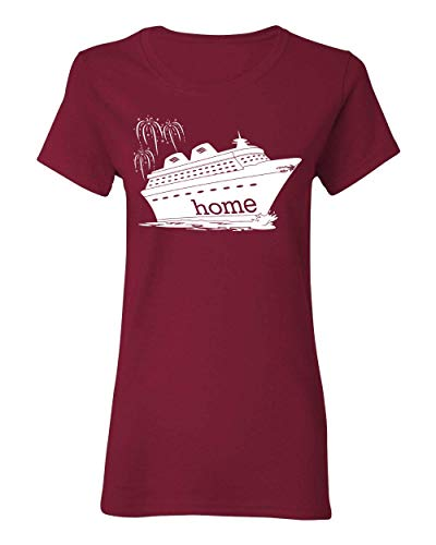 - DisGear Women's Cruise is My Home Vacation T-Shirt and Raglan (3X-Large, Cardinal Red)