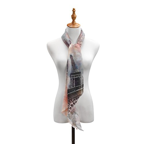 (Eiffel Tower Honeycomb Weave Women's One Size Polyester Fashion Skinny Scarf)