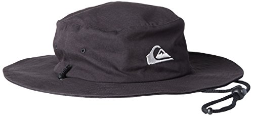 Quiksilver Men's Bushmaster Floppy Sun Beach Hat, Black3, Large/X-Large