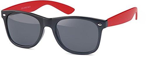 métal 15 avec Armature Rouge de Schwarz Fumé 60 Vintage S tendance Panto Mat lunettes montures clubmaster style soleil en Lunettes RETRO en aHWnqPw6