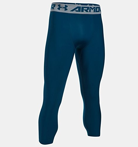 Men's Under Armour 2.0 3/4 Legging, Blackout Navy/Steel, 3XL x 21