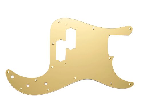 MIJ Pickguard for Precision Bass Aclyric Mirror Gold fa-pg-pb-amg
