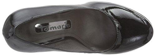 Tamaris 22466, Zapatos de Tacón para Mujer Negro (BLACK PATENT 018)
