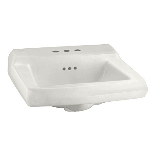 American Standard 0124.024.020 Comrade Wall Sink with Wall Hanger, White