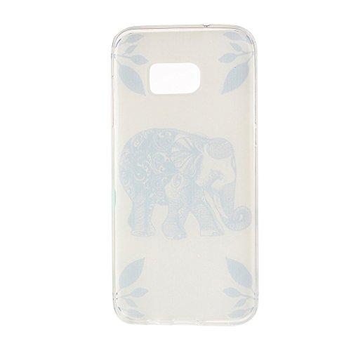 PowerQ Modelo colorido Serie Pintura Impresión Suave Silicona Gel TPU Carcasa Cover Caso Case < Blue Lotus Flower | para IPhone 6 6S IPhone6S IPhone6 >                                      Dibujo Cubrir caja del teléfono móvil Proteger P Leaf Elephant