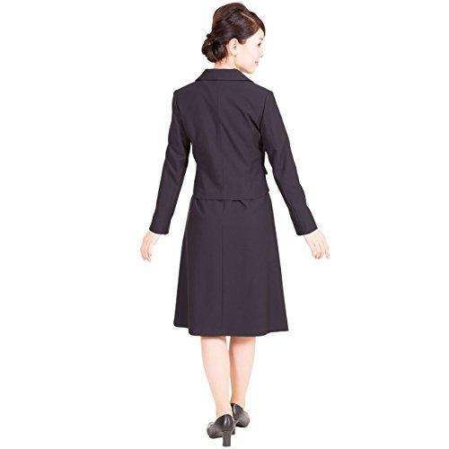 お受験スーツ レディース 濃紺 フォーマル 2枚重ね襟 アンサンブル 鹿の子織り 学校説明会 ママ 入学式 卒業式 Marycoco(メアリーココ) LEV-0504