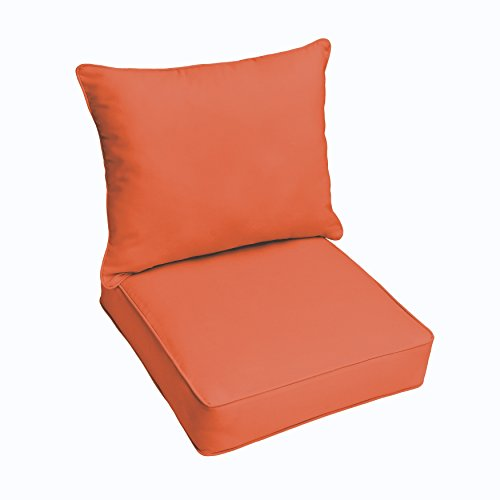 Mozaic Co. Sloane Mandarin Orange Indoor/ Outdoor Corded Chair Cushion And Pillow Set by Mozaic Co.