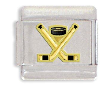 - Clearly Charming Hockey Italian Charm Bracelet Link