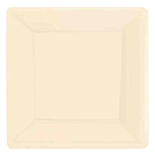 (Amscan Vanilla Crème Square Paper Plates | 7