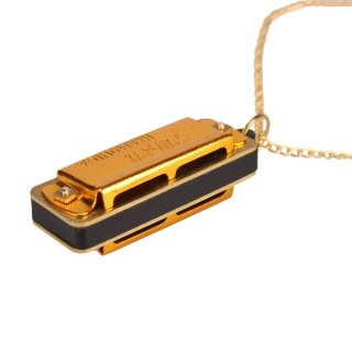 [New Cute Swan Mini Harmonica 4 Hole 8 Tone Necklace Golden by Completestore] (Chess Player Costume)