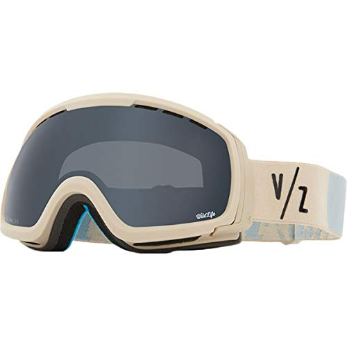 VonZipper Feenom NLS Adult Snowmobile Goggles - Bone Satin/Wild Blackout/One Size