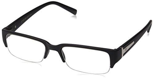 7ff9dd0c49 Newbee Fashion - Aliz  Unisex Clear Lens Sleek Half Frame Slim ...