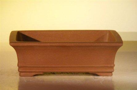 Bonsai Boy's Brown Unglazed Ceramic Bonsai Pot – Rectangle 10 x 7 875 x 3 125