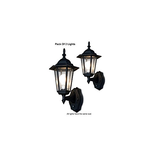 Outdoor Wall Lighting System With Smart Photocell Sensor (Pack of 2)