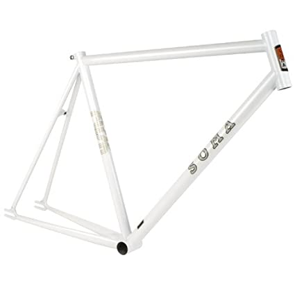 Amazon.com : Soma Rush Track Pearl White 57cm Frameset : Cycle ...