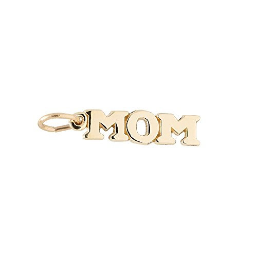 14k Gold Charm Yellow Mom (Rembrandt Charms, Mom, 14k Yellow Gold)