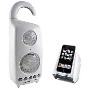 Smartak Audio Wireless Waterproof Shower Speaker with Dock Transmitter