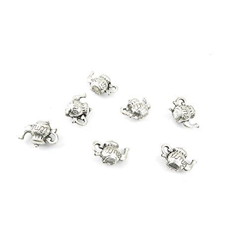 Price per Lot 50 PCS Jewelry Making Charms Antique Silver Tone Color Jewellery Charme Findingss Bulk Wholesale Suppliers Arts Crafts 05172 Time Teapot