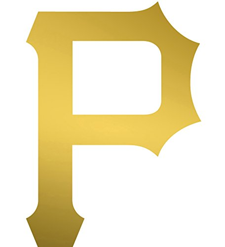 ANGDEST Pittsburgh Pirates logo (METALLIC GOLD) Waterproof Vinyl Decal Stickers for Laptop Phone Helmet Car Window Bumper Mug Tuber Cup Door Wall Decoration (Cup Pittsburgh Pirates)