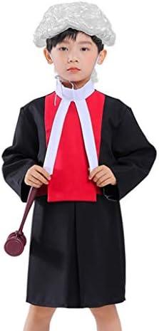 Halloween kostuums voor kinderen Halloween Children's Judge Kostuums, jongens en meisjes optreedt als Lawyers' Rol prestaties kostuums, met inbegrip van pruiken en Hamer