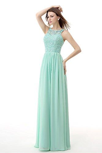 Prom Lace Bridal Red Dark Gowns Dresses Long Evening Anna's Women's Chiffon B4nxfB0g
